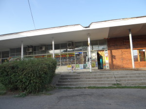 The crumbling communist era grocery store is still standing. Photo credit: Ileana Johnson 2012