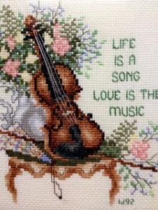 Photo: Ileana's cross-stitch from 1992