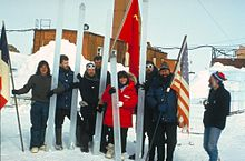 Vostok ice core team in Antarctica Wikipedia