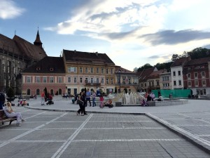 Black Church piazza in Brasov