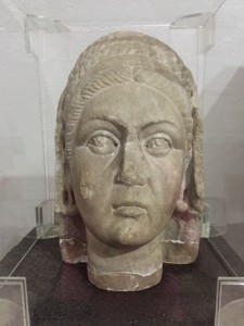 Roman statue head at Brukenthal lapidarium