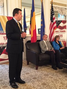 Romanian Ambassador at Washington with Ana Blandiana and Romulus Rusan