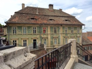 Sibiu house with eyes 14 c.
