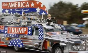 The Trump mobile by Finnish Florida couple (dozens of car parts)